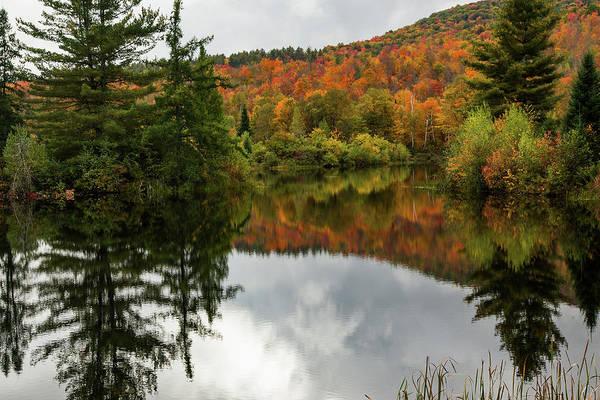 Photograph - Autumn Foliage Reflection by Jeff Folger