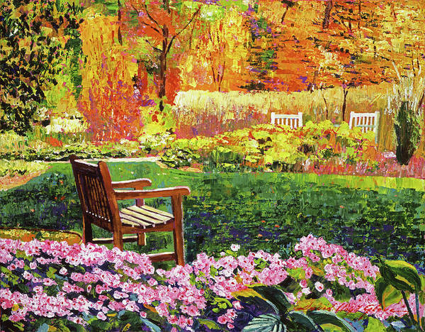 Painting - Autumn Garden Setting by David Lloyd Glover