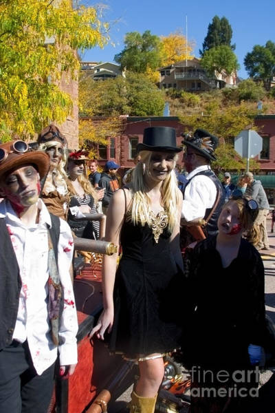 Photograph - Autumn Ghouls At Emma Crawford Coffin Races In Manitou Springs Colorado by Steve Krull