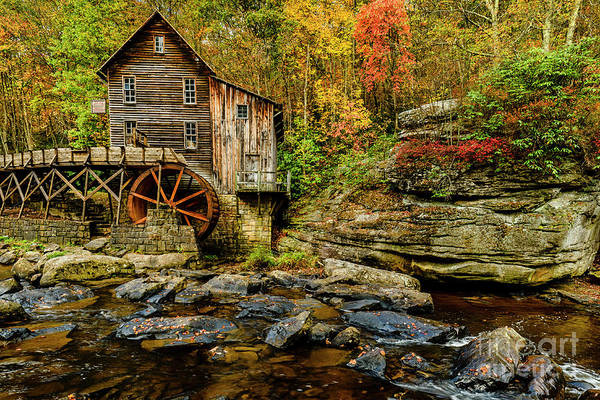 Babcock Photograph - Autumn Glade Creek Grist Mill  by Thomas R Fletcher