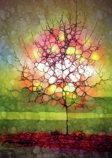 Cheery Digital Art - Autumn Glow At The Lake by Tara Turner