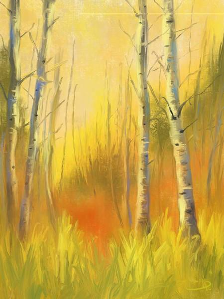 Wall Art - Digital Art - Autumn Gold by David G Paul