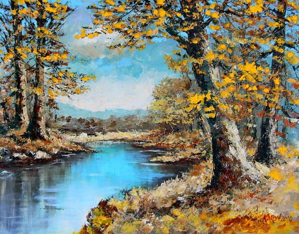 Wall Art - Painting - Autumn Gold by Karon Melillo DeVega