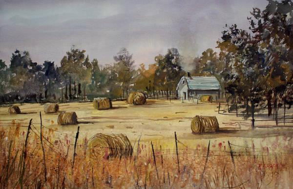 Hay Bale Wall Art - Painting - Autumn Gold by Ryan Radke