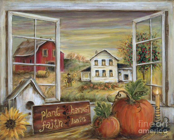 Red Apples Painting - Autumn Harvest by Marilyn Dunlap