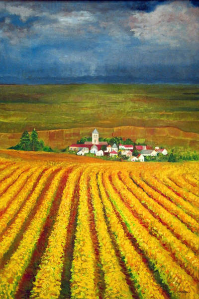 Impressionistic Vineyard Wall Art - Painting - Autumn Harvest by Michael Durst