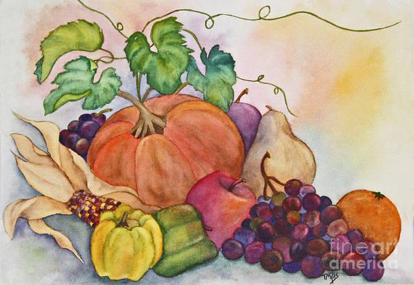 Husk Painting - Autumn Harvest by Terri Mills