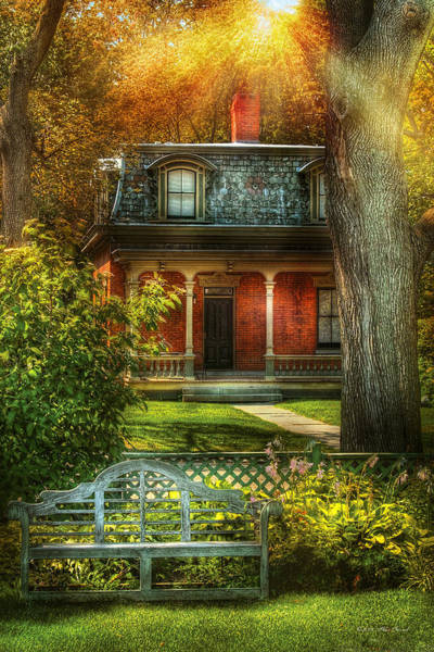 Photograph - Autumn - House - The Estates by Mike Savad