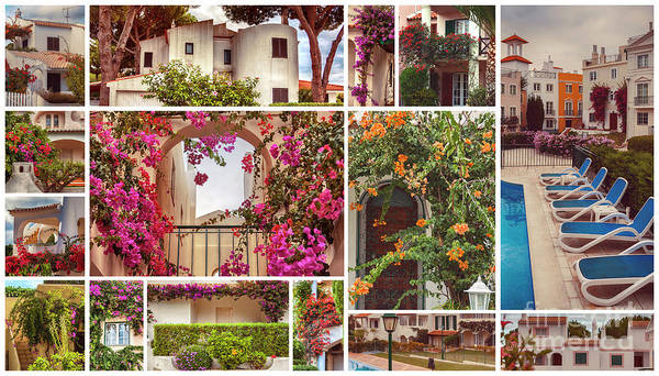 Photograph - autumn houses,  gardens and balconies in Portugal by Ariadna De Raadt