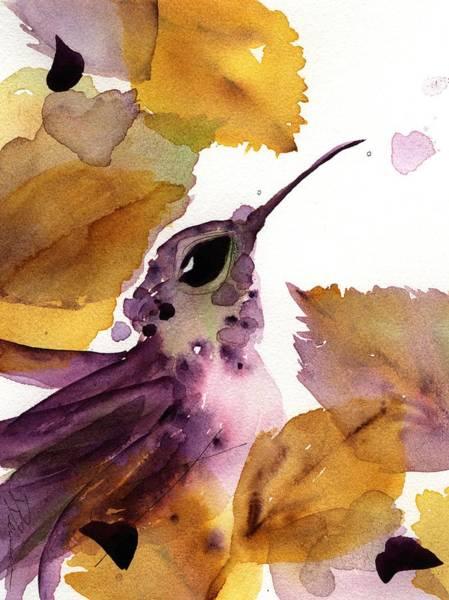 Painting - Autumn Hummer by Dawn Derman