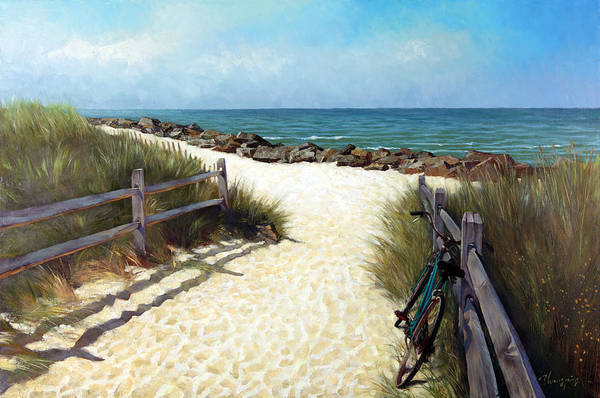 Cape May Painting - Autumn In Cape May by Zhongping Shi