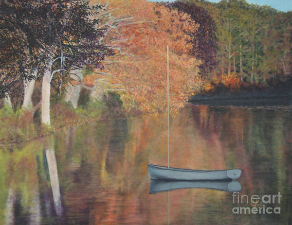 Wall Art - Painting - Autumn In Hamburg Cove by Cindy Lee Longhini
