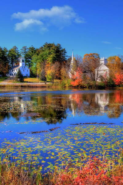 Photograph - Autumn In New England - Marlowe Nh by Joann Vitali