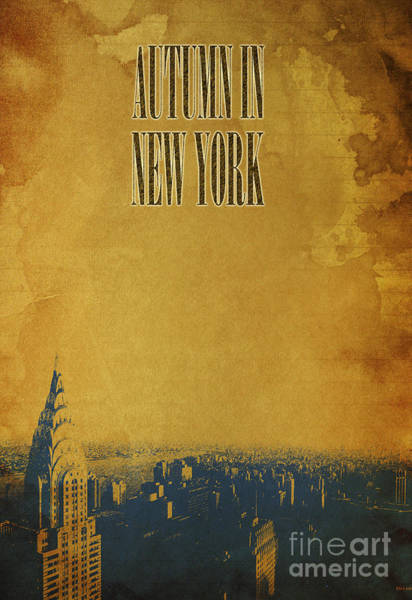 Wall Art - Photograph - Autumn In New York C by Drawspots Illustrations