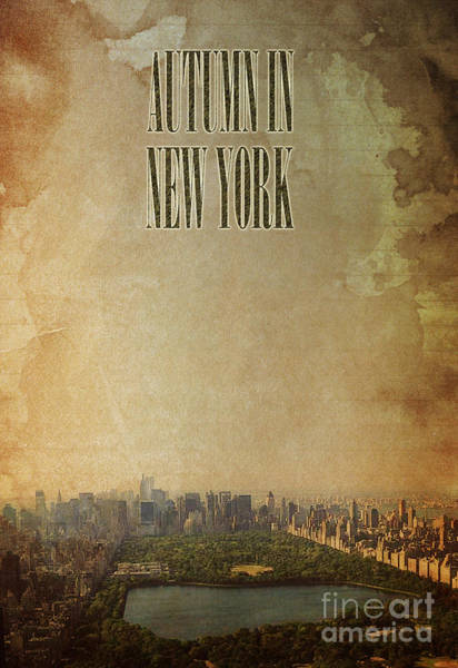 Wall Art - Digital Art - Autumn In New York Cp by Drawspots Illustrations