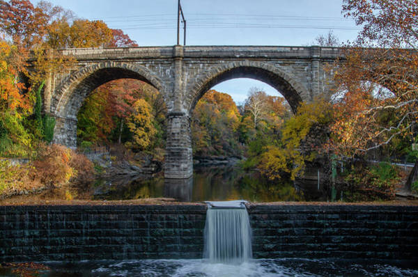 Photograph - Autumn In Philadelphia  - Wissahickon Creek At Ridge Avenue by Bill Cannon