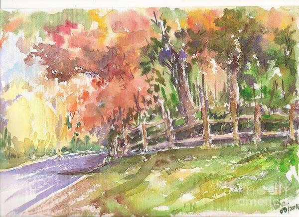 Painting - Autumn In The Air by Asha Sudhaker Shenoy