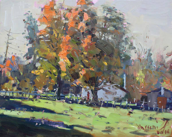 Fall Colors Painting - Autumn In The Farm by Ylli Haruni