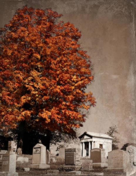Burried Photograph - Autumn In The Graveyard by Brenda Conrad