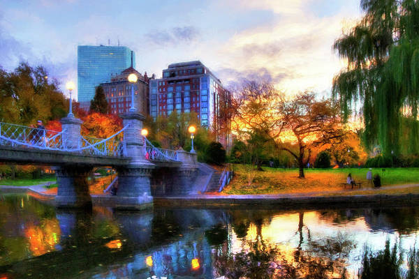 Photograph - Autumn In The Park - Boston Public Garden by Joann Vitali