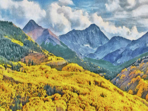 Digital Art - Autumn In The Rockies by Digital Photographic Arts