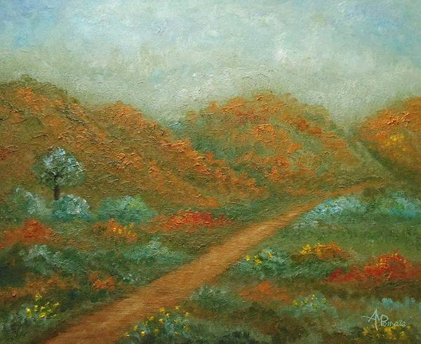 Painting - Autumn In The Valley by Angeles M Pomata