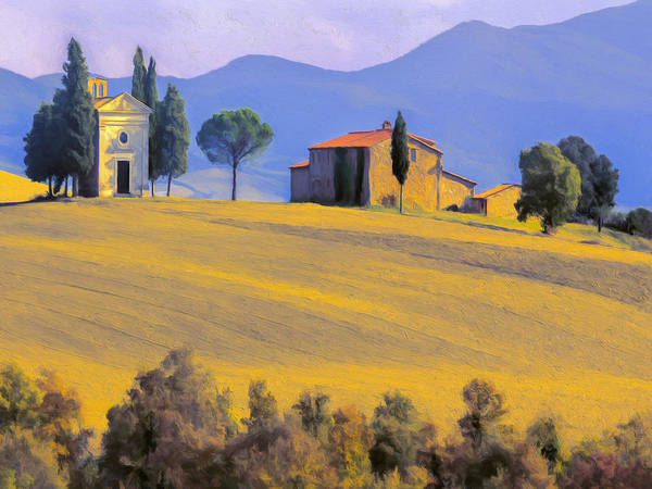 Painting - Autumn In Tuscany by Dominic Piperata