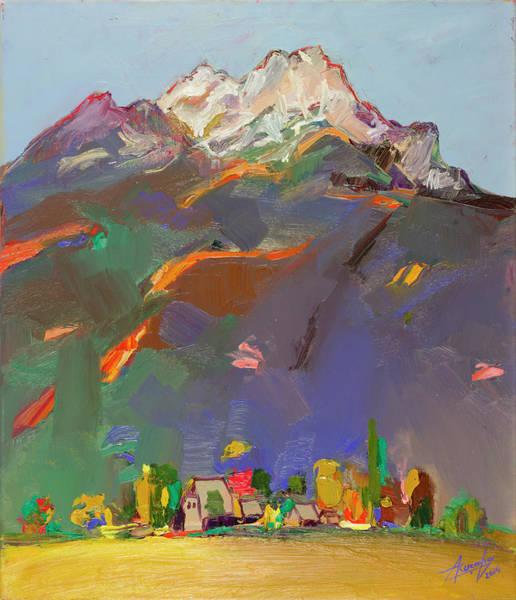 Dominate Painting - Autumn In Valbona, Alps 8 - Vjeshte Ne Alpe, Valbona Cikli 8 by Azem Kucana