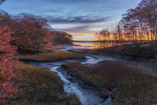 Photograph - Autumn Inlet by Tom Singleton