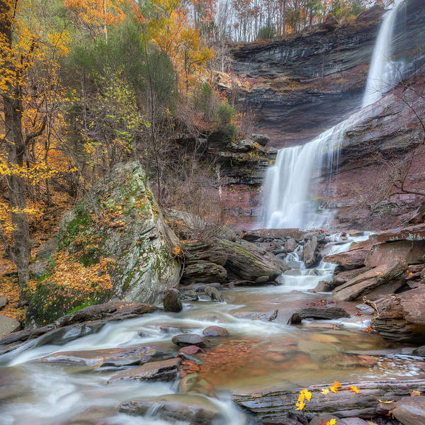 Kaaterskill Clove Photograph - Autumn Kaaterskill Falls Square by Bill Wakeley