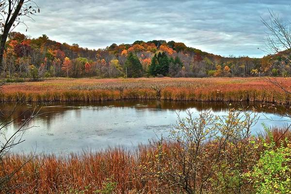 Wall Art - Photograph - Autumn Lake And Landscape by Frozen in Time Fine Art Photography