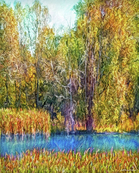 Digital Art - Autumn Lake Melody by Joel Bruce Wallach