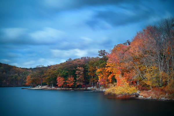 Photograph - Autumn Lake by Songquan Deng