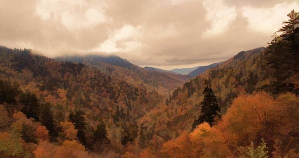 Painting - Autumn Landscape In The Smoky Mountains by Dan Sproul