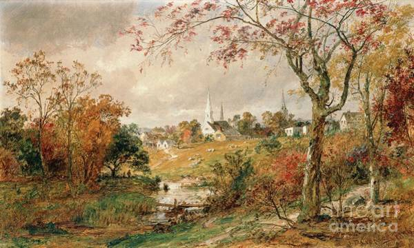 Turning Painting - Autumn Landscape by Jasper Francis Cropsey