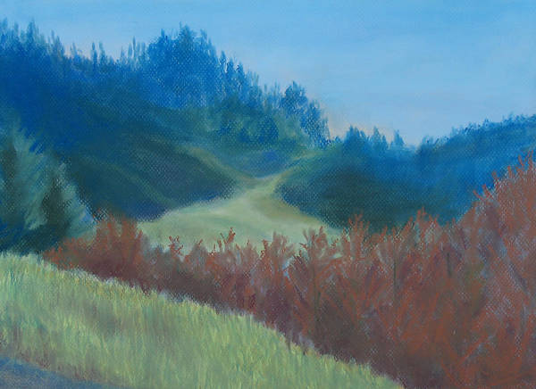Pastel Drawing Painting - Autumn Landscape Of The Mind by Jenny Armitage