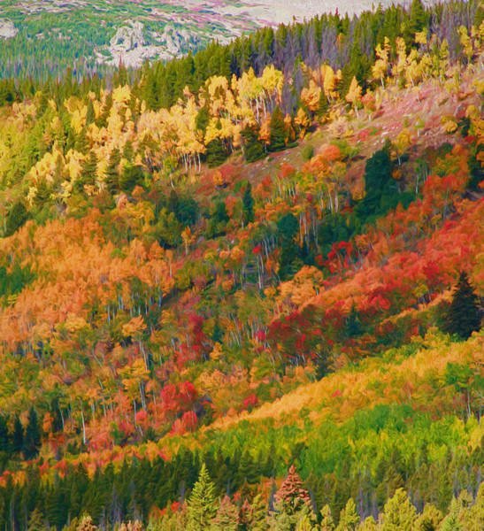 Painting - Autumn Layers Of Color In The Rockies by Dan Sproul