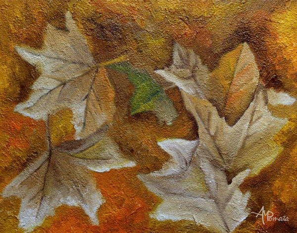 Painting - Autumn Leaves by Angeles M Pomata