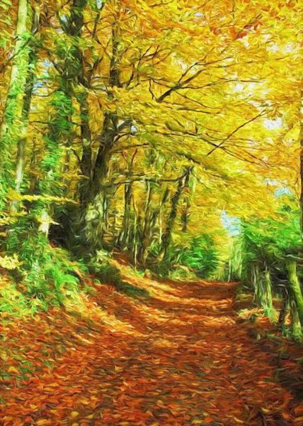 Digital Art - Autumn Leaves by Charmaine Zoe