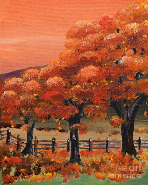 Painting - Autumn Leaves - Falling  by Jan Dappen
