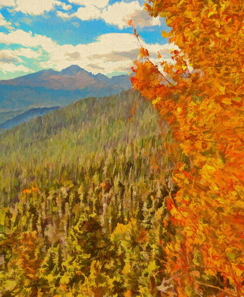 Painting - Autumn Leaves In The Rocky Mountains by Dan Sproul