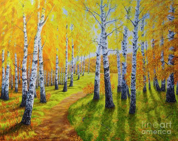 Salo Wall Art - Painting - Autumn Light 2 by Veikko Suikkanen