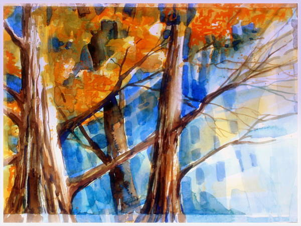 Ashes Painting - Autumn Light by Mindy Newman