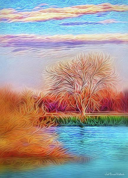 Realization Digital Art - Autumn Light Realization by Joel Bruce Wallach