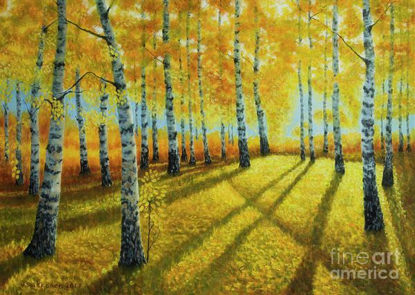 Salo Wall Art - Painting - Autumn Light by Veikko Suikkanen