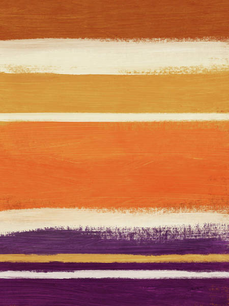 Color Block Painting - Autumn Lines Vertical- Art By Linda Woods by Linda Woods
