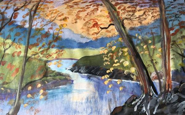 Wall Art - Painting - Autumn Meander by Julie Thomas-Zucker