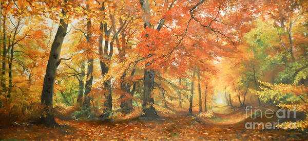 Wall Art - Painting - Autumn Mirage by Sorin Apostolescu