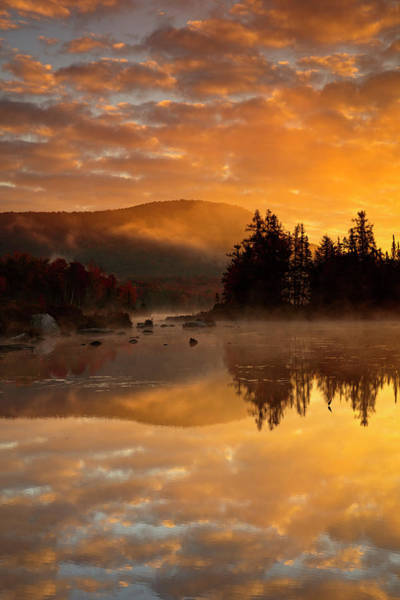 Vermont Photograph - Autumn Mist by Mike Lang