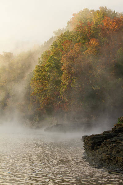 Photograph - Autumn Mist On Dale Hollow Lake by Paul Rebmann